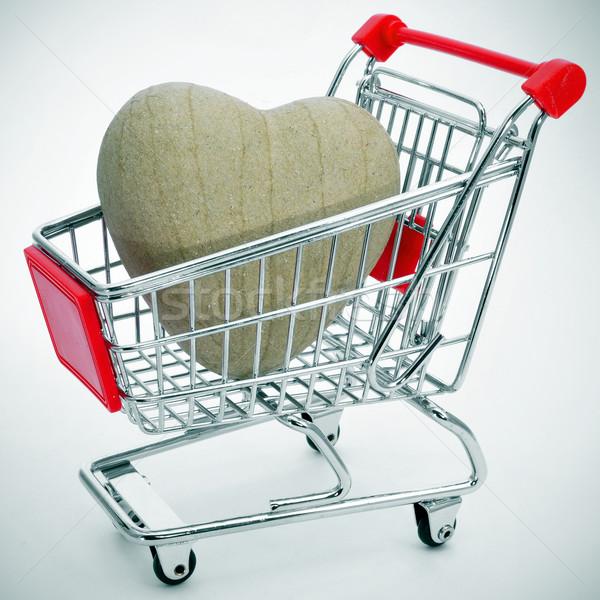 heart in a shopping cart Stock photo © nito