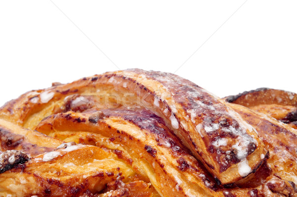 spanish Trenza de Almudevar, a typical braided pastry Stock photo © nito