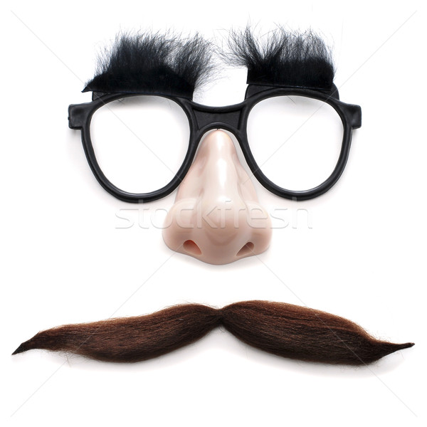 man with glasses and mustache Stock photo © nito