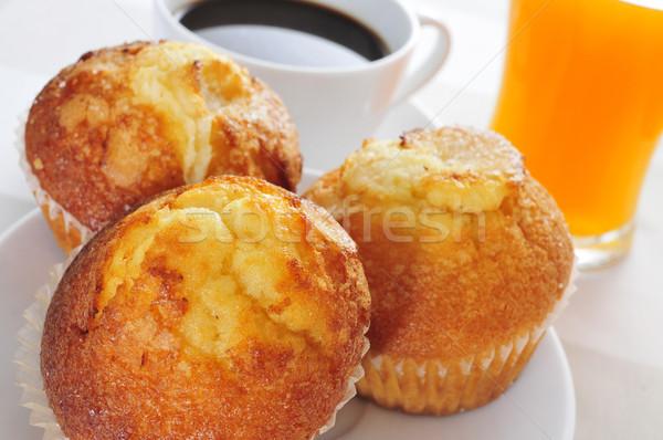 Colazione continentale muffins caffè succo d'arancia alimentare ristorante Foto d'archivio © nito