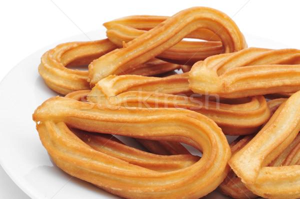 Típico Espanha prato branco fundo Foto stock © nito