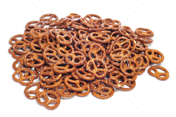 Bretzels blanche alimentaire pain grasse Photo stock © nito