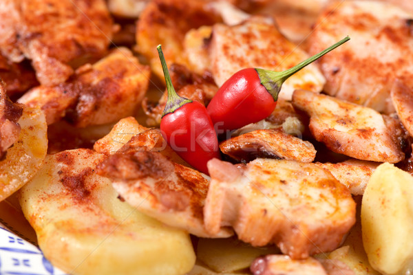 pulpo a la gallega, a recipe of octopus typical in Spain Stock photo © nito
