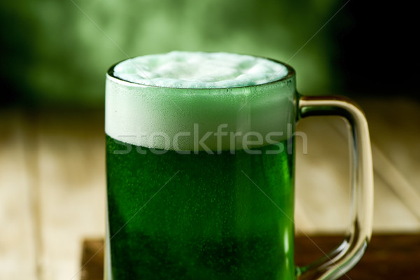 jar with dyed green beer Stock photo © nito