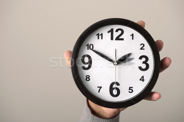 clock being adjusted backward or forward Stock photo © nito