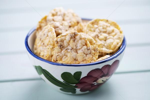 puffed corn and quinoa cakes Stock photo © nito
