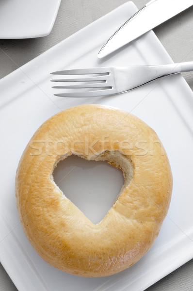 bagel with a heart-shaped hole Stock photo © nito