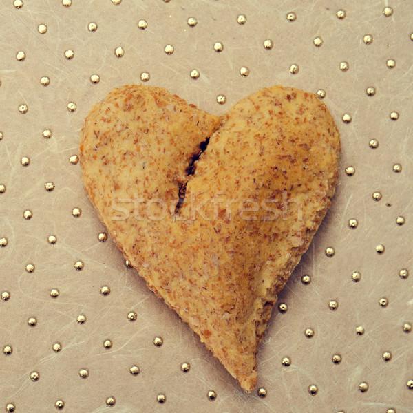 Kenyér szeretet boldog búza minta románc Stock fotó © nito