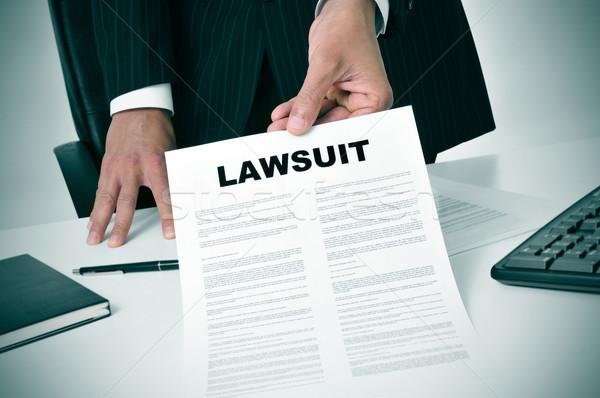иск адвокат служба документа текста Сток-фото © nito