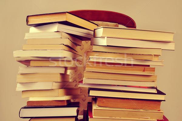 books, with a retro effect Stock photo © nito