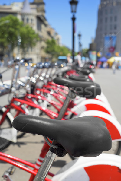 bicycle rental in Barcelona, Spain Stock photo © nito