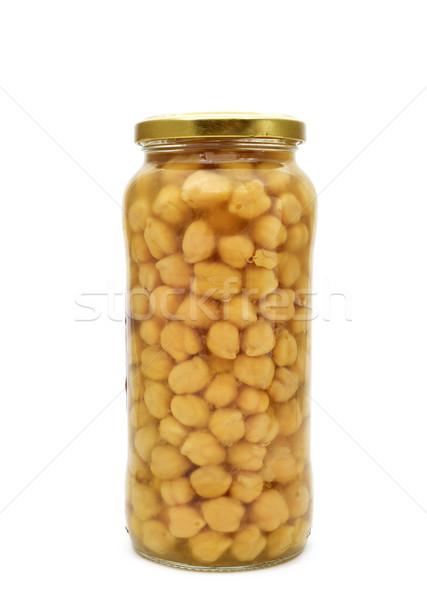 Cocido vidrio jar alimentos salud fondo Foto stock © nito