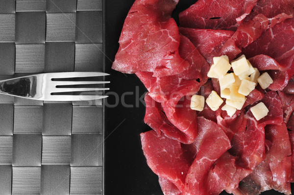 beef carpaccio with parmesan cheese Stock photo © nito