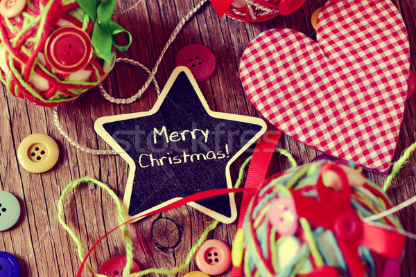 star-shaped chalkboard with the text merry christmas Stock photo © nito