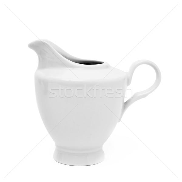 white ceramic creamer or saucier Stock photo © nito