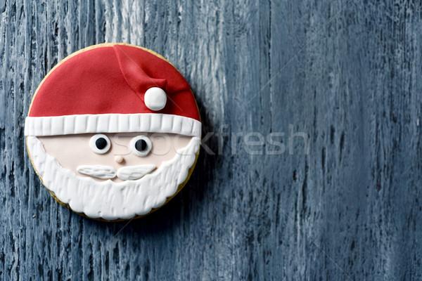 Stok fotoğraf: Noel · kurabiye · biçim · noel · baba · atış · yüz