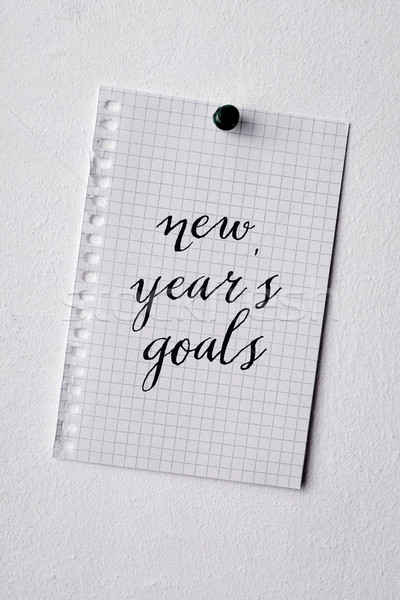text new years goals in a note Stock photo © nito