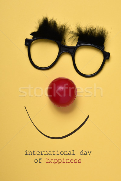 Vicces arc szöveg nemzetközi nap boldogság pár Stock fotó © nito