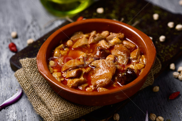 spanish callos, a typical stew with beef tripe Stock photo © nito
