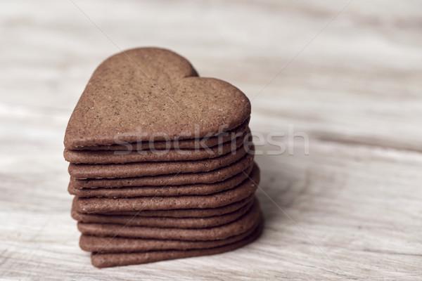 Cookies rustiek houten tafel huis Stockfoto © nito