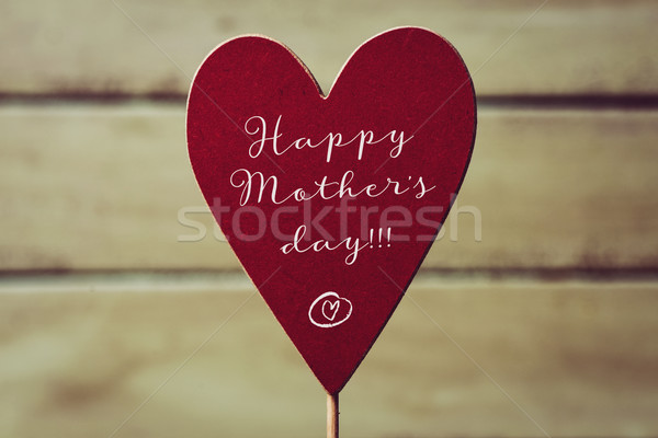 heart and text happy mothers day Stock photo © nito