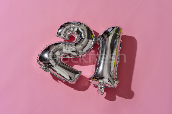 number-shaped balloons forming the number 21 Stock photo © nito