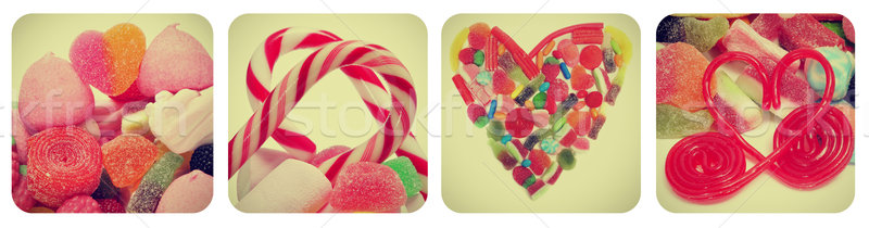 heart candies collage Stock photo © nito