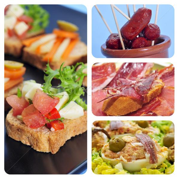 İspanyolca tapas kolaj dört resimleri farklı Stok fotoğraf © nito