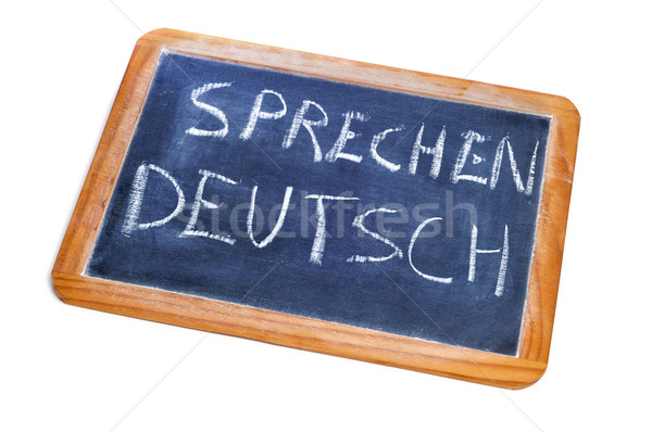 sprechen deutsch, german is spoken Stock photo © nito