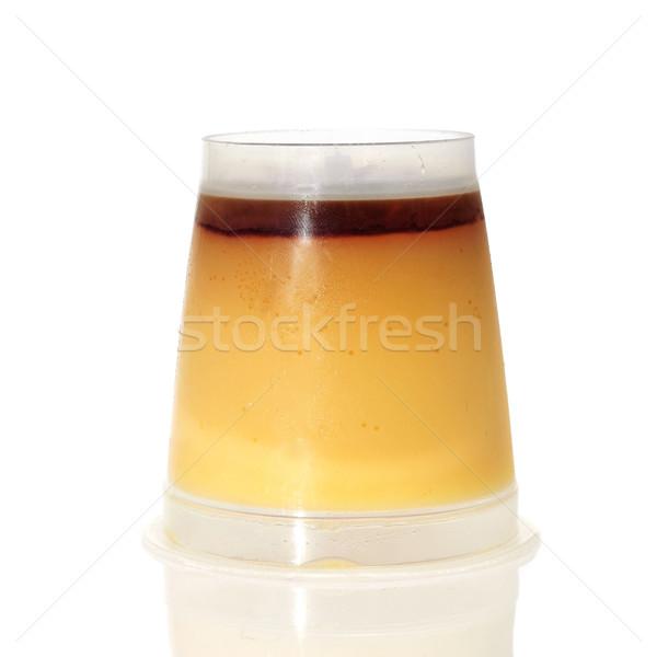 逆さまに ガラス 白 デザート 食べる プラスチック ストックフォト © nito