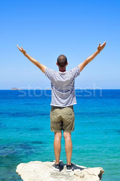 человека оружия воздуха океана молодым человеком за Сток-фото © nito