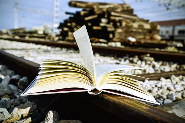 book on the railroad tracks Stock photo © nito