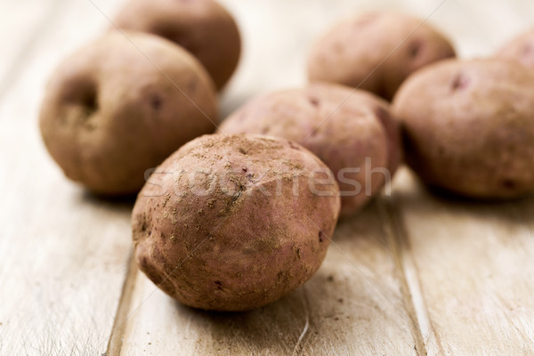 raw unpeeled potatoes on a table Stock photo © nito