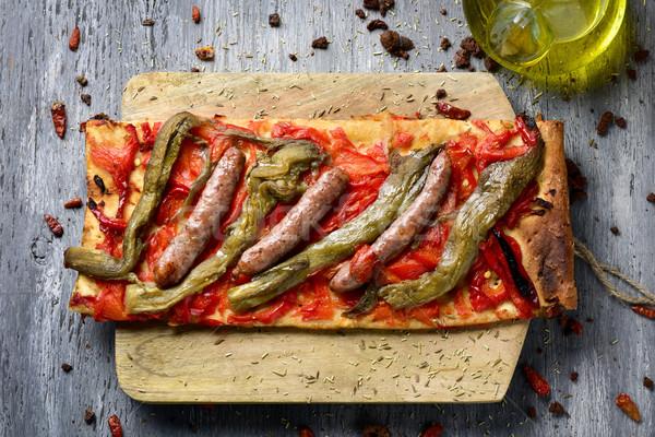 coca de recapte, catalan savory cake similar to pizza Stock photo © nito