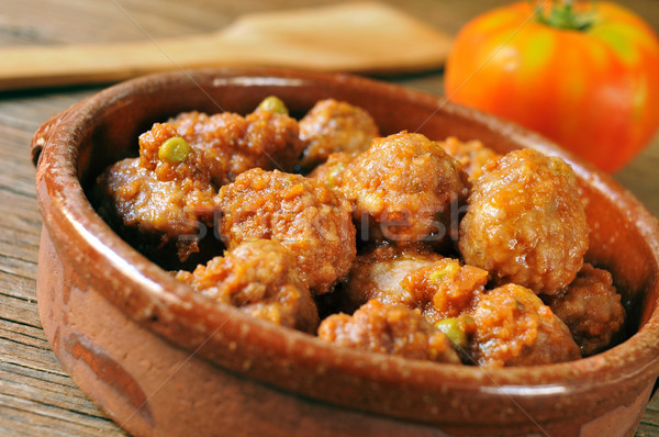 spanish meatballs stew Stock photo © nito