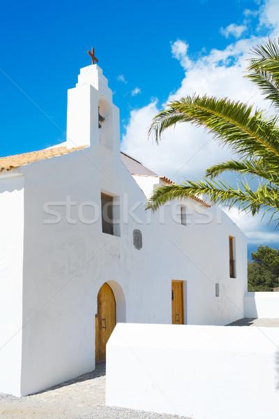 Sant Francesc des Estany Church, in Ibiza Island, Spain Stock photo © nito
