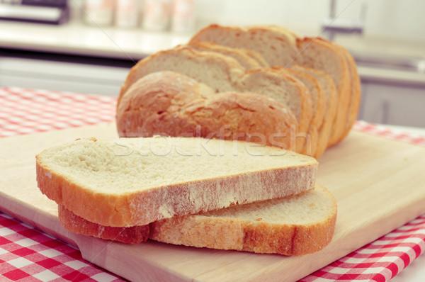 Espanol pan pan mesa de cocina primer plano Foto stock © nito