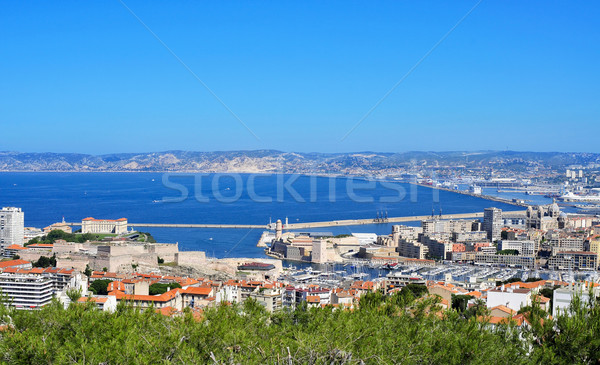 aerial view of Marseille, France Stock photo © nito