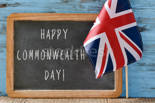 text happy commonwealth day Stock photo © nito