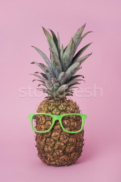 Ananas groene bril paar Stockfoto © nito