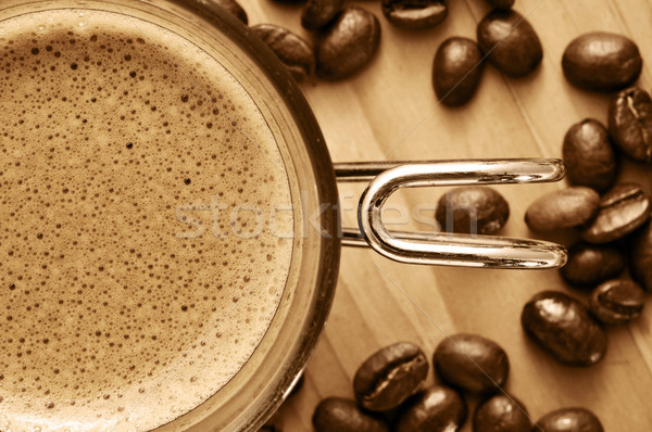 cup of coffee and coffee beans  Stock photo © nito