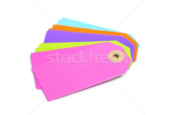 Carta bianca etichette diverso colori bianco Foto d'archivio © nito