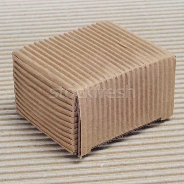 corrugated cardboard box Stock photo © nito