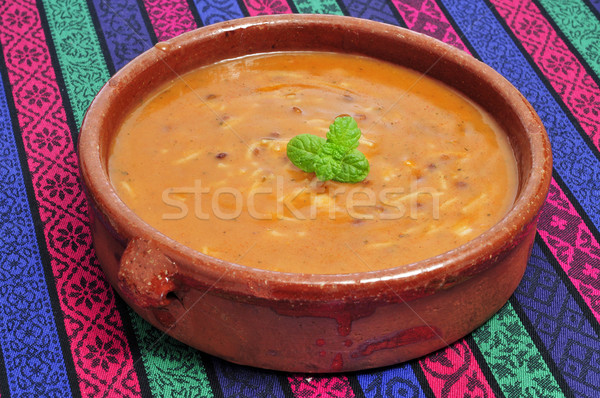 bowl with harira, the traditional Berber soup of Morocco Stock photo © nito
