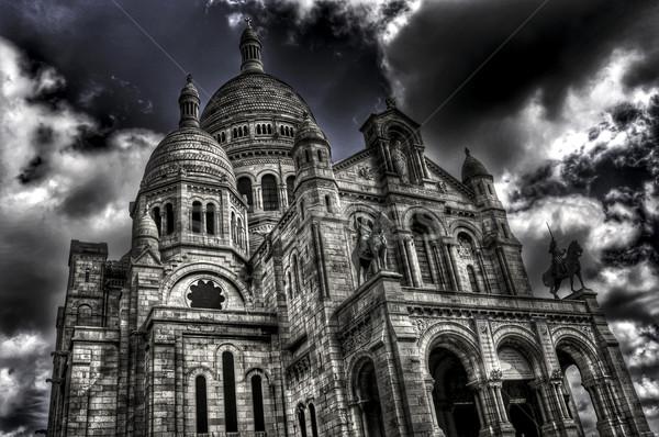 Basílica Paris França ver edifício cidade Foto stock © nito
