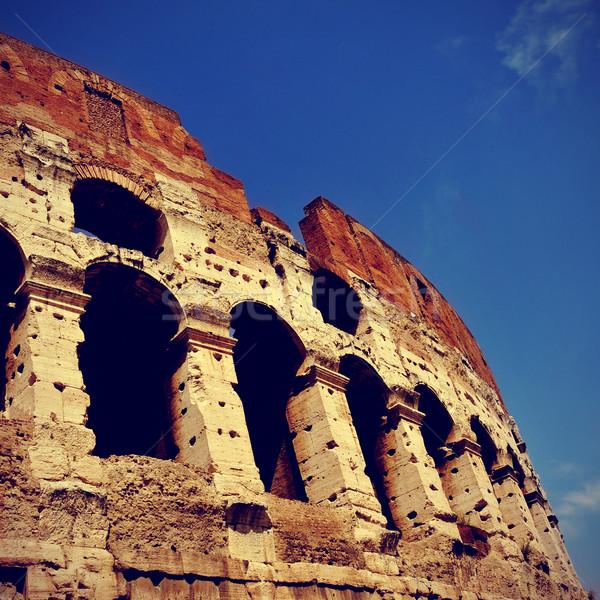 Рим Италия фотография ретро эффект город Сток-фото © nito