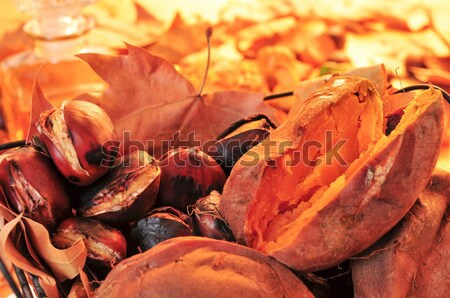 roasted chestnuts and sweet potatoes Stock photo © nito