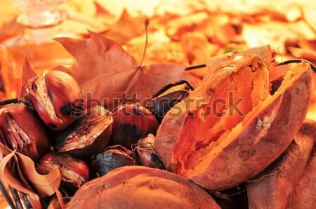Doce batatas cesta fruto Foto stock © nito