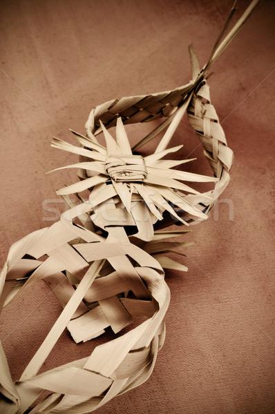 испанский украшенный Palm типичный Вербное воскресенье Пасху Сток-фото © nito