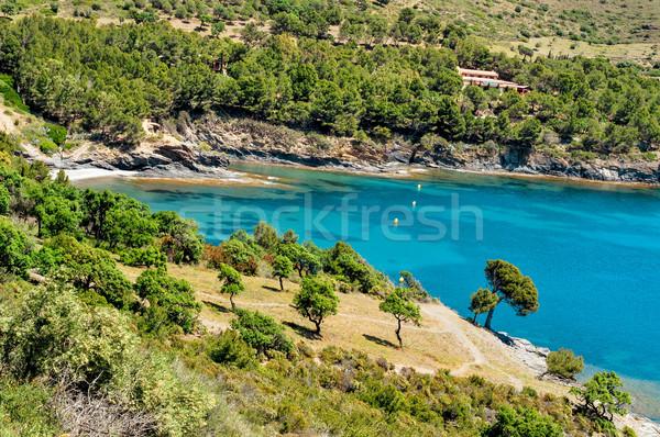 öböl Spanyolország kilátás békés barlang kék Stock fotó © nito